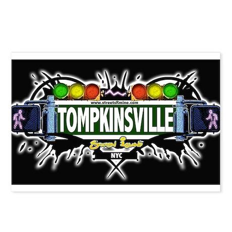 Tompkinsville Staten Island NYC (Black) Postcards