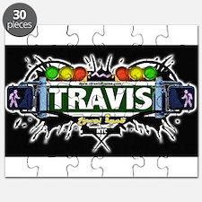 Travis Staten Island NYC (Black) Puzzle