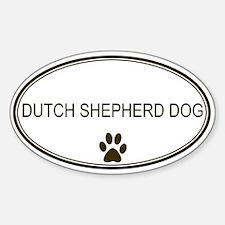 Oval Dutch Shepherd Dog Oval Decal