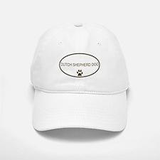 Oval Dutch Shepherd Dog Baseball Baseball Cap