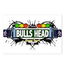 Bulls Head Staten Island NYC (White) Postcards (Pa