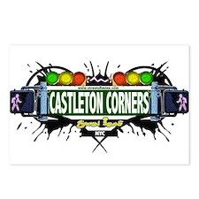 Castleton Corners Staten Island NYC (White) Postca