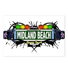Midland Beach Staten Island NYC (White) Postcards