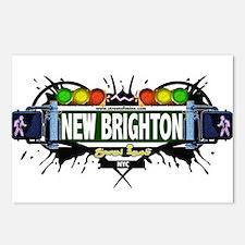 New Brighton Staten Island NYC (White) Postcards (