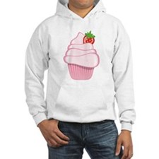Pink Cupcake With Strawberry Jumper Hoody