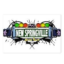 New Springville Staten Island NYC (White) Postcard