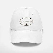 Oval Dogo Argentino Baseball Baseball Cap