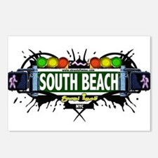 South Beach Staten Island NYC (White) Postcards (P