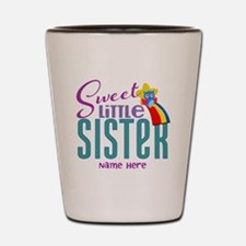 Personalized Name Sweet Little Sister Shot Glass