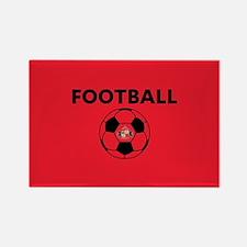 Sunderland Soccer Ball- full blee Rectangle Magnet