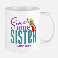 Personalized Name Sweet Little Sister Mug