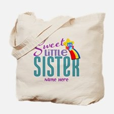 Personalized Name Sweet Little Sister Tote Bag