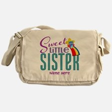 Personalized Name Sweet Little Sister Messenger Ba