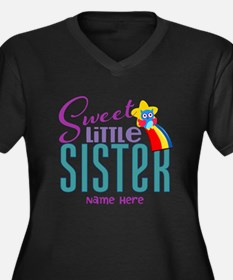 Personalized Name Sweet Little Sister Plus Size T-