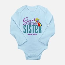 Personalized Name Sweet Little Sister Body Suit