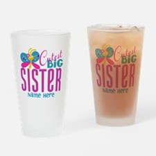 Personalized Big Sister Drinking Glass