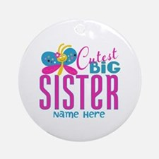 Personalized Big Sister Ornament (Round)