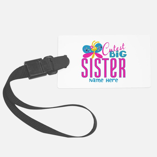 Personalized Big Sister Luggage Tag