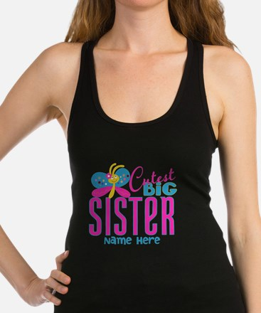 Personalized Big Sister Racerback Tank Top