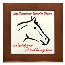 My American Quarter Horsecan ... Framed Tile