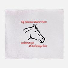 My American Quarter Horsecan ... Throw Blanket