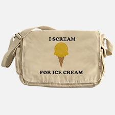 I Scream For Ice Cream (Yellow) Messenger Bag