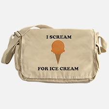 I Scream For Ice Cream (Orange) Messenger Bag