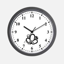 Shadowed butterfly-shaped Plum blossom Wall Clock