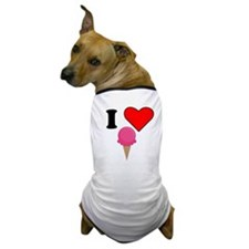 I Heart Ice Cream (Pink) Dog T-Shirt