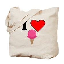 I Heart Ice Cream (Pink) Tote Bag