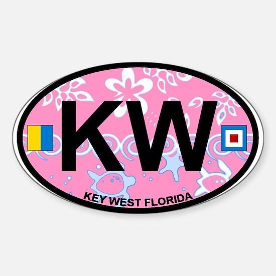 Key West - Oval Design. Sticker (Oval)