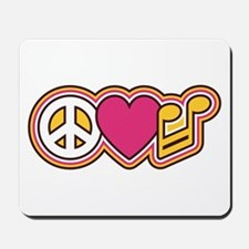 Peace Love Music Mousepad