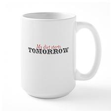 My diet starts tomorrow Mug
