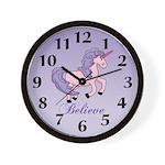 Purple Unicorrn Wall Clock