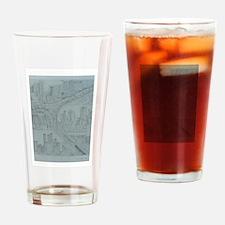 triple fall Drinking Glass