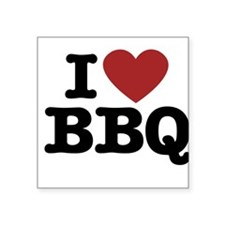 I heart BBQ Sticker