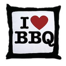 I heart BBQ Throw Pillow