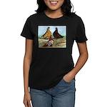 Shortfaced Tumbler Pigeons Women's Dark T-Shirt