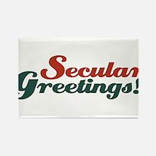 Secular greetings Rectangle Magnet