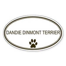 Oval Dandie Dinmont Terrier Oval Decal