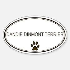Oval Dandie Dinmont Terrier Oval Decal