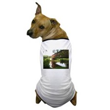 Covered Bridge and stream Dog T-Shirt