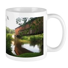 Covered Bridge and stream Small Mug