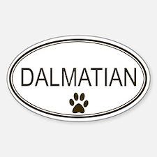 Oval Dalmatian Oval Decal