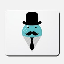 Blue Snow Cone Man Mousepad