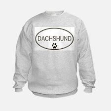 Oval Dachshund Sweatshirt