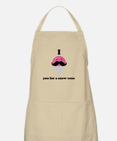 I Mustache You For A Pink Snow Cone Apron