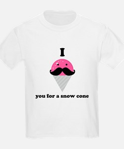 I Mustache You For A Pink Snow Cone T-Shirt