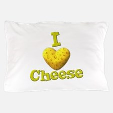 funny cute i heart love cheese cheesey heart Pillo