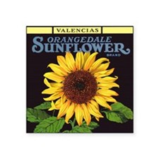 Vintage Fruit Crate Label Art, Sunflower Sticker